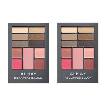 Almay The Complete Look Palette, Makeup for Eyes, Lips and Cheeks #100 Light/Medium Skin Tones (Pack of 2) + Cat Line Makeup Tutorial