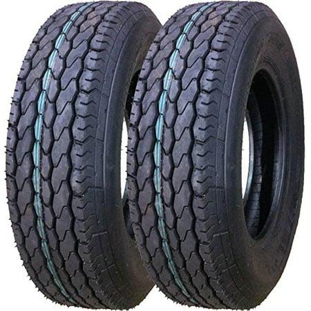 Set of 2 New Trailer Tires ST 205/75D15 - 11057