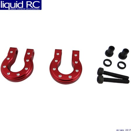 Hot Racing ACC808MR02 Red Aluminum Monster D-Ring Shackles TRX-4