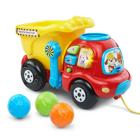 VTech Drop & Go Dump Truck With Colorful Rocks and Hinged - Snow Plow Dump Truck