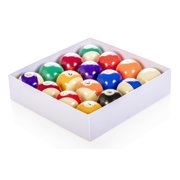 Mizerak Regulation Size and Weight Deluxe Chip Resistant 15 Billiard Pool Ball and Cue Ball Set