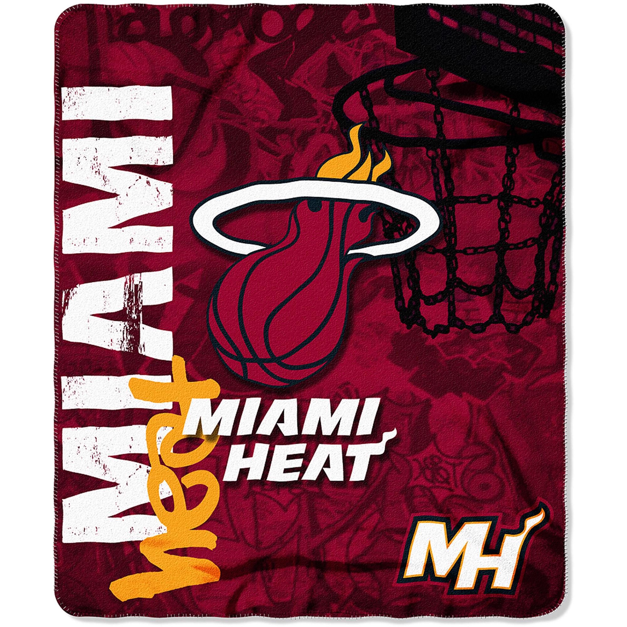 "NBA Miami Heat 50"" x 60"" Fleece Throw"