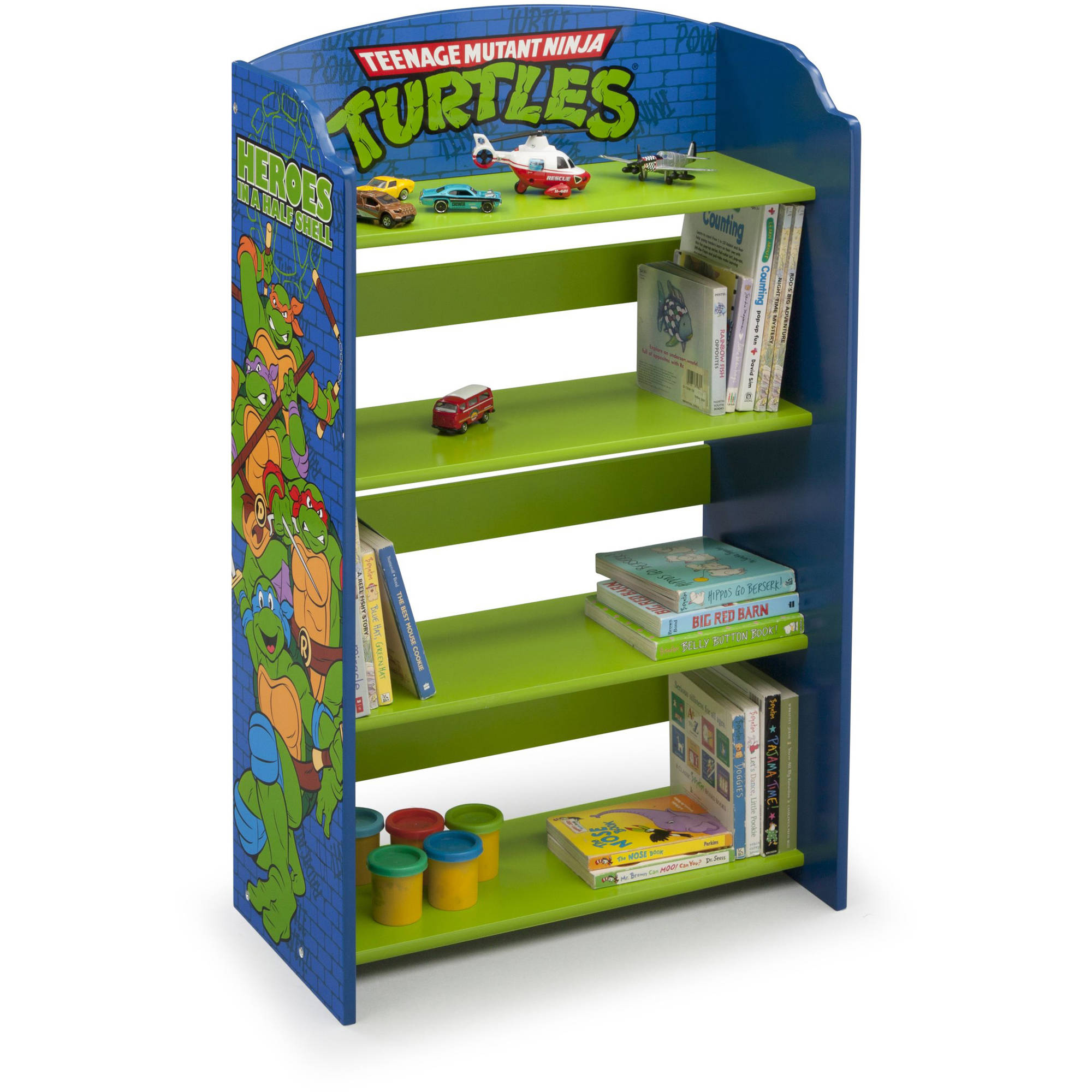 teenage mutant ninja turtles wood bookshelf by delta children walmartcom - Toddler Bookshelves