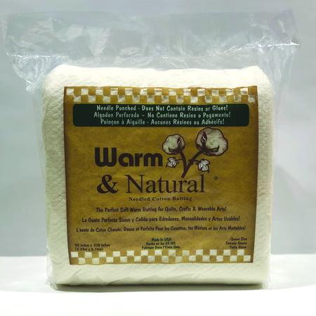 Warm & Natural Cotton Batting Queen 90x108