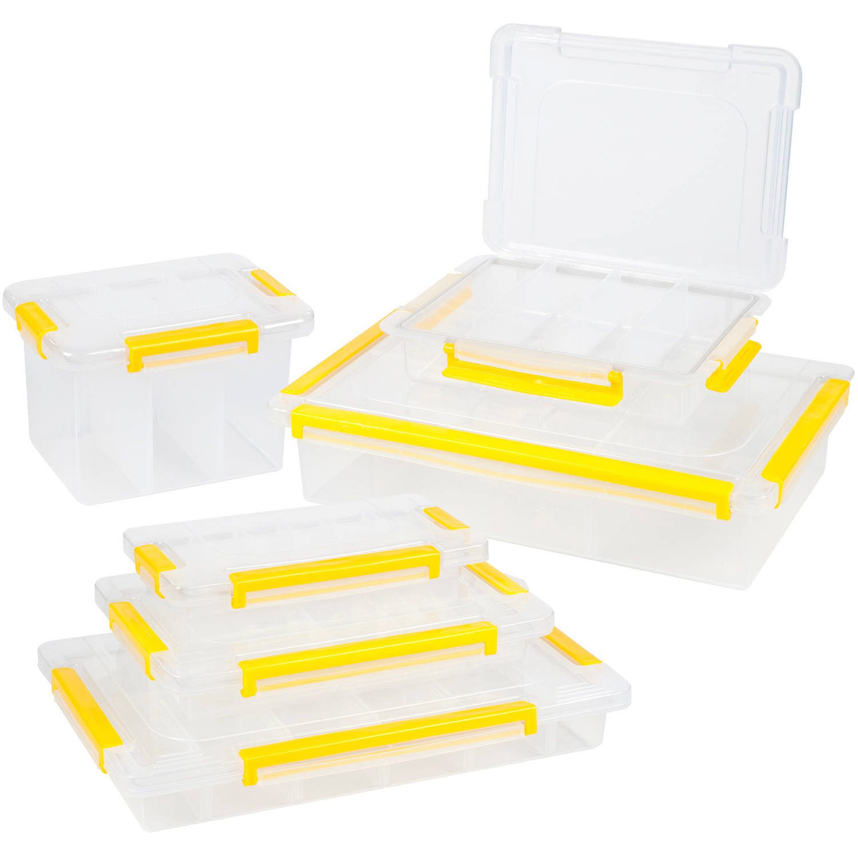 Stalwart Parts and Crafts Storage Organizers 6 Tool-Box Set by Trademark Global LLC