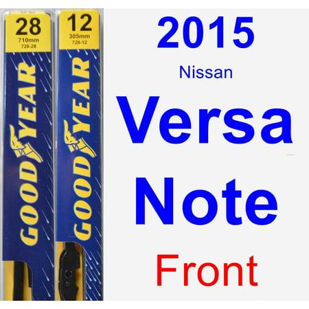2015 Nissan Versa Note Wiper Blade Set/Kit (Front) (2 Blades) - (4runner Wiper)