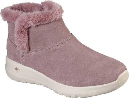 pink skechers boots