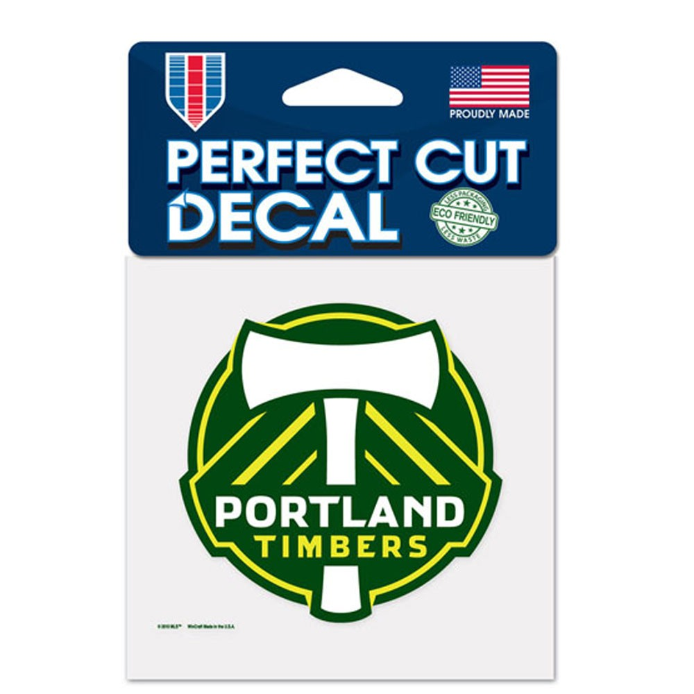 Portland Timbers Official MLS 4 inch x 4 inch  Die Cut Car Decal by Wincraft
