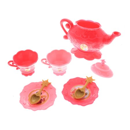 Disney Princess Girls Pretend Play Tea Set Toy Kettle Cups and Plates