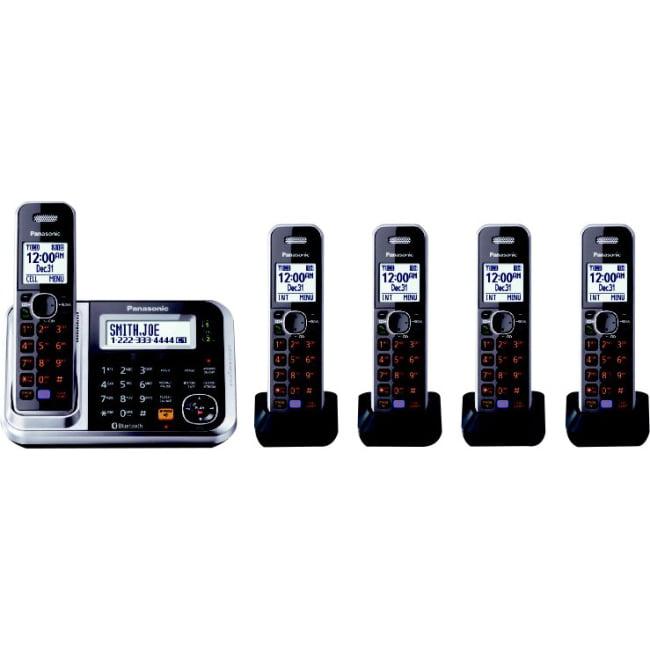 Panasonic KX-TG7876S DECT 6.0 Plus 1.9GHz 6 Handset Expandable Cordless Phone by PANASONIC TELECOM