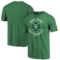 San Jose Earthquakes Fanatics Branded St. Patrick's Day Luck Tradition Tri-Blend T-Shirt - Heathered Green
