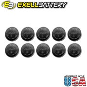 10x Exell A76 1.5V  LR44 Alkaline Watch Battery AG13 FAST USA SHIP
