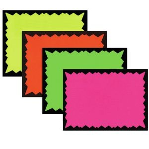 Side Imprint Areas (Blank Hi Impact Starburst Signs 100 per pack, 2 1/2