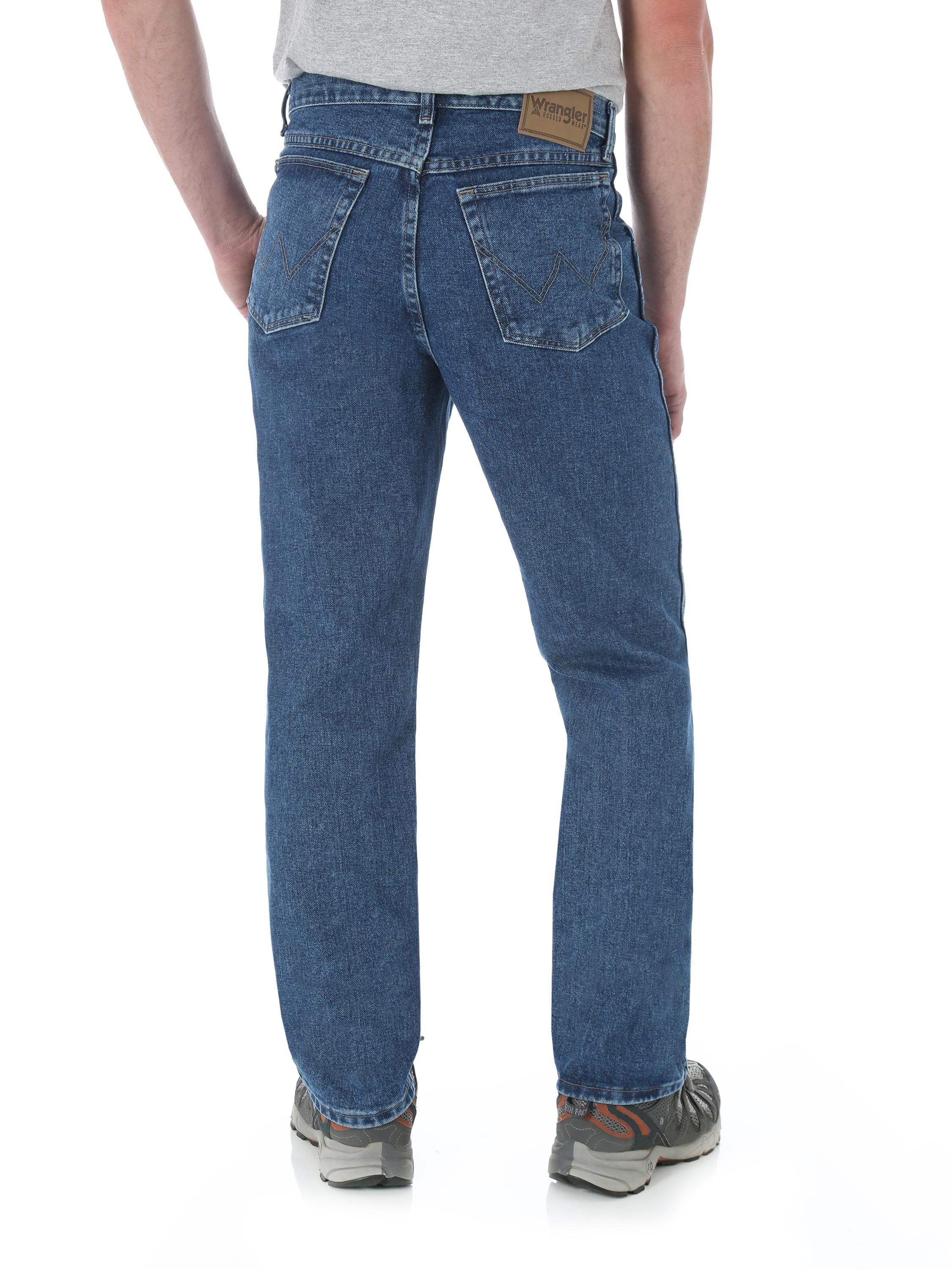 96aed26f Wrangler - Wrangler Men's Rugged Wear Relaxed Fit Jean - Walmart.com