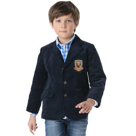 Leo&Lily Boys Kids Cotton Corduroy Blazers Jackets Coats W Lining