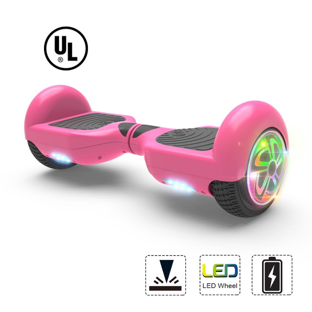 "Hoverboard Two-Wheel Self Balancing Electric Scooter 6.5"" UL 2272 Certified Flash LED Wheel (Pink)"