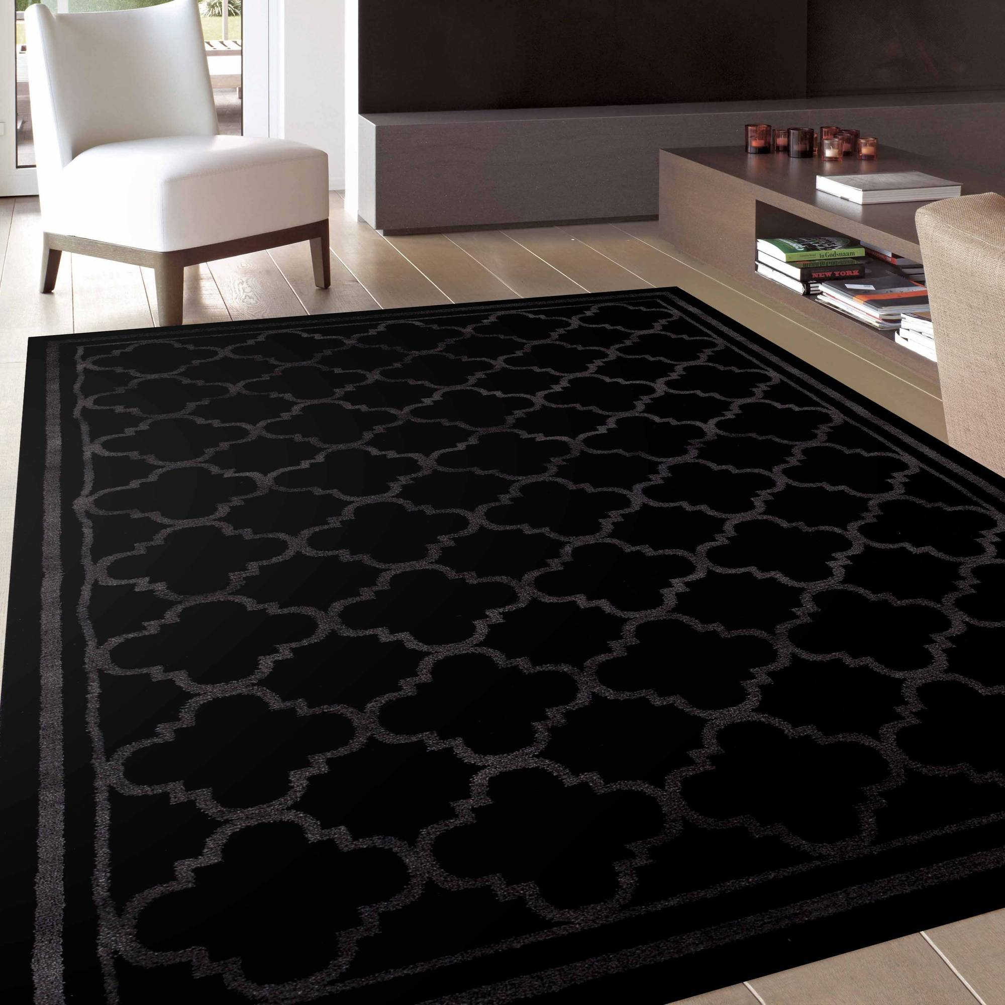 World Rug Gallery Trellis Contemporary Modern Design Area