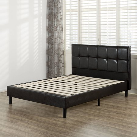 Zinus Faux Leather Square Detailed Platform Bed With