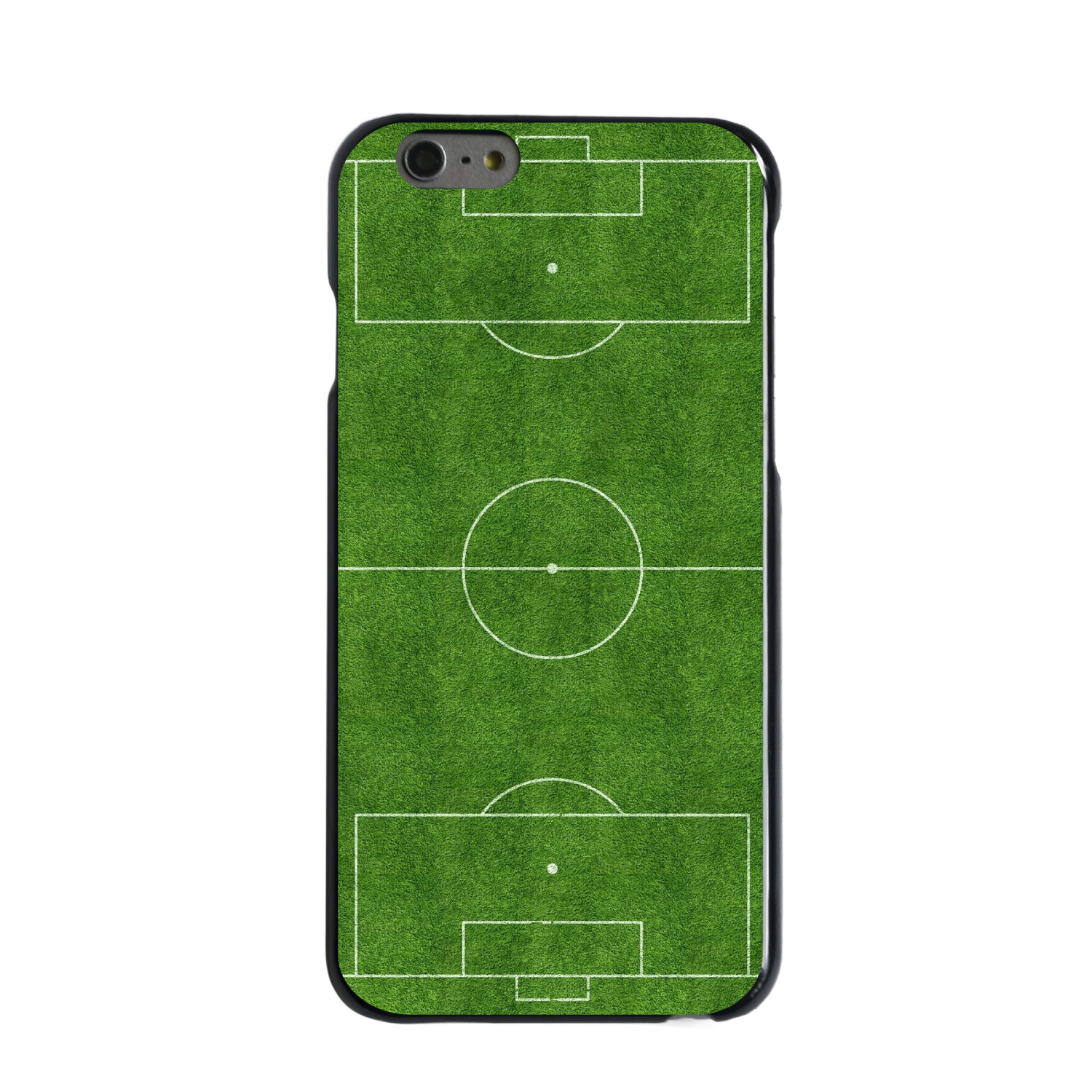 "CUSTOM Black Hard Plastic Snap-On Case for Apple iPhone 6 PLUS / 6S PLUS (5.5"" Screen) - Soccer Field Layout"