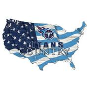 Tennessee Titans USA Flag Cutout Sign