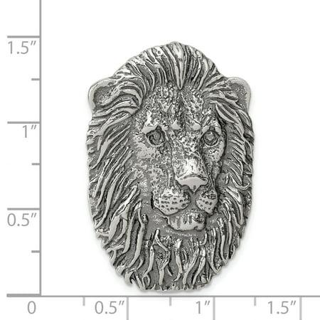 SilverLion Men Necklace Wild Lion Head Pendant 925 Sterling Silver Animal Chain Jewelry