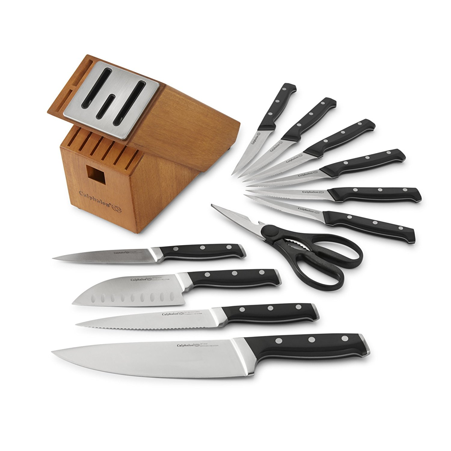 Calphalon Classic Self-Sharpening Cutlery Knife Block Set with SharpIN Technology, 12 Piece by