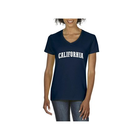 California Women V-Neck T-Shirt