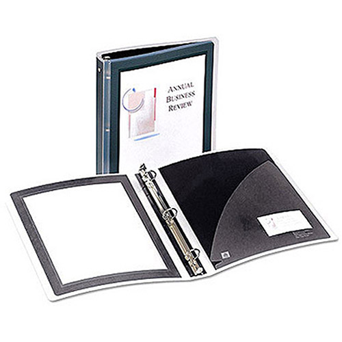 "Avery Flexi-View Round-Ring Presentation View Binder, 1-1/2"" Capacity"