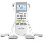 Easy@Home Professional Grade TENS Unit Electronic Pulse Massager EHE012PRO - Backlit LCD Display, Professional Grade Powerful Pulse Intensity and Rechargeable Battery -OTC Home Use