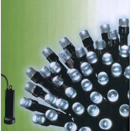 Set Of 96 Cool White Led Battery Operated 8 Function