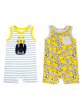 352c6543 Product Image 100% Organic Cotton Sleeveless One Piece Romper, 2-pack (Baby  Boys)