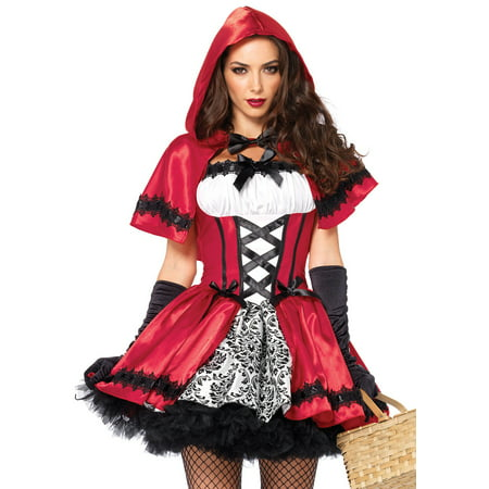 Halloween Costumes Red Riding Hood Wolf (Women's Gothic Red Riding Hood)