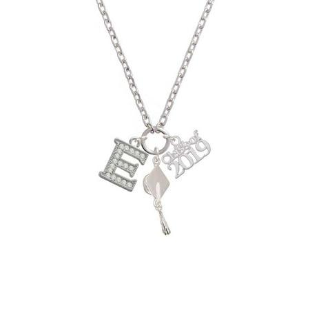 Silvertone Crystal Initial - E - Class of 2019 Graduation Zoe Necklace](Graduation Necklaces)