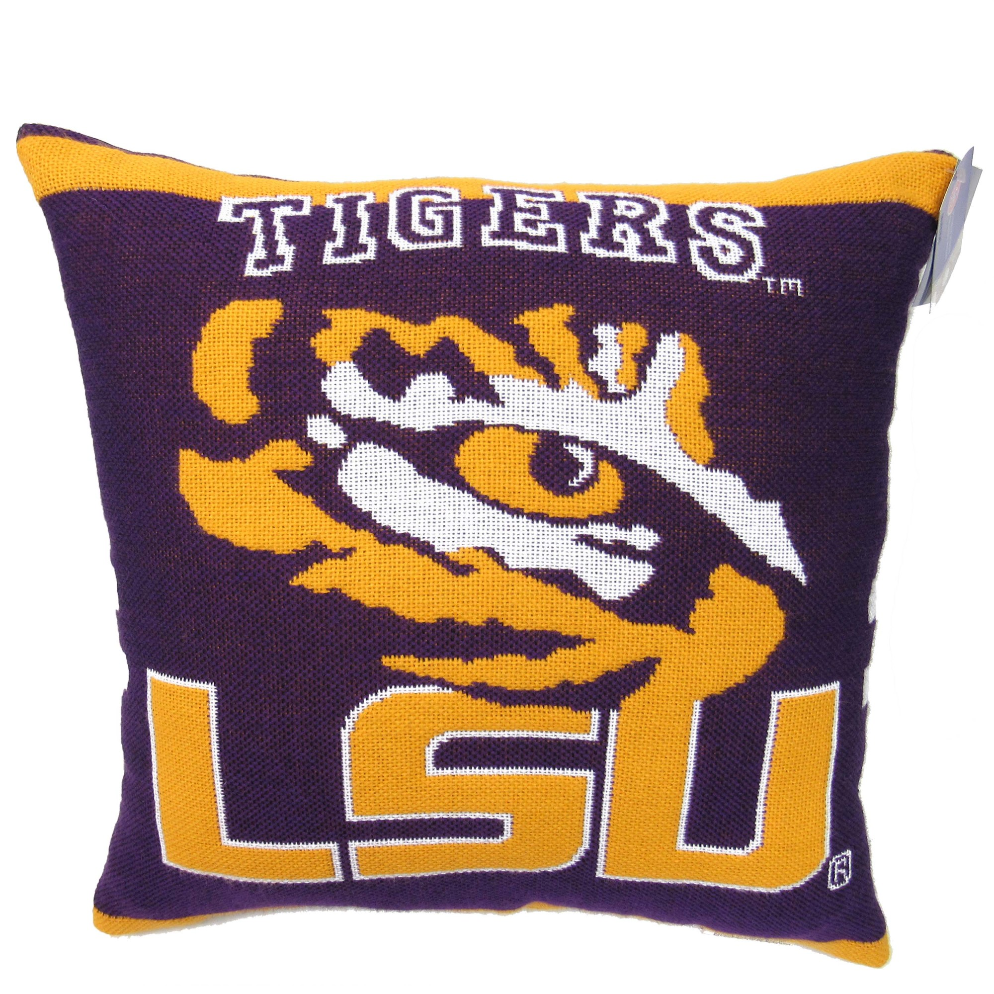 "NCAA LSU 20"" Square Decorative Woven Pillow by The Northwest Company"