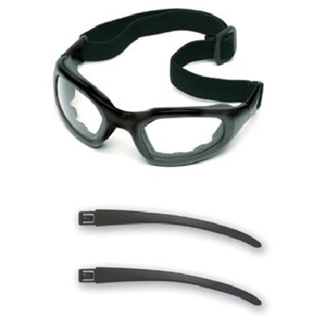 Image of 3M Maxim 2X2 Impact Goggles With Black Nylon Dual Lens Frame, Clear Anti-Fog Lens, Elastic Band And Air Bladder Cushion