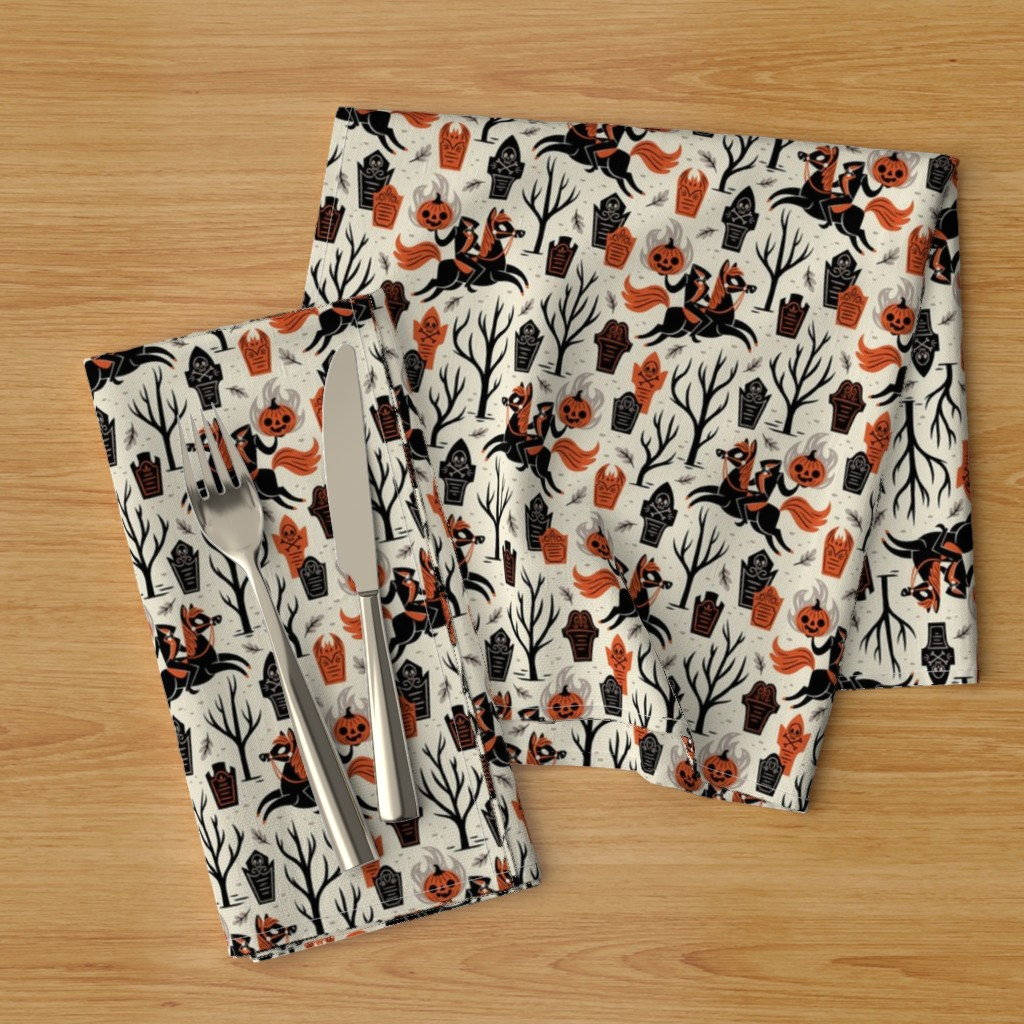 Headless Horseman Sleepy Hollow New Cotton Dinner Napkins by Roostery Set of 2