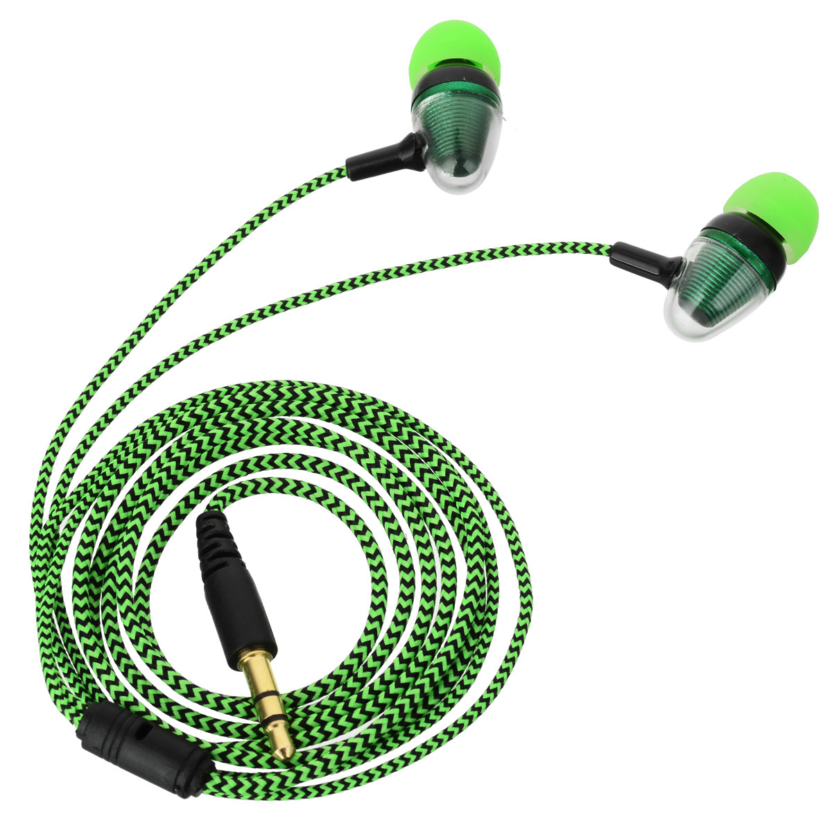 Bullet Head Style 3.5mm Plug Wired In-Ear Earphone Green