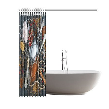RYLABLUE Spices Shower Curtain Waterproof Fabric Bath Curtain 66x72 inches - image 1 de 2