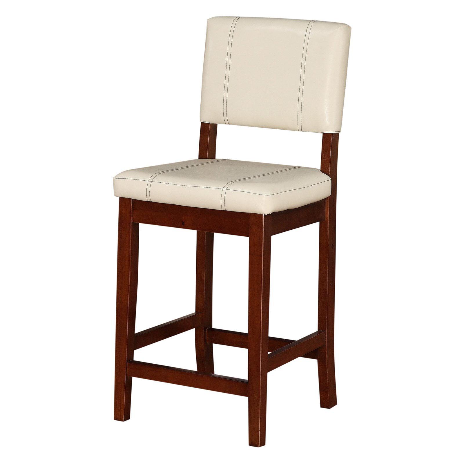 Linon Milano Counter Stool Cream 24 Inch Seat Height