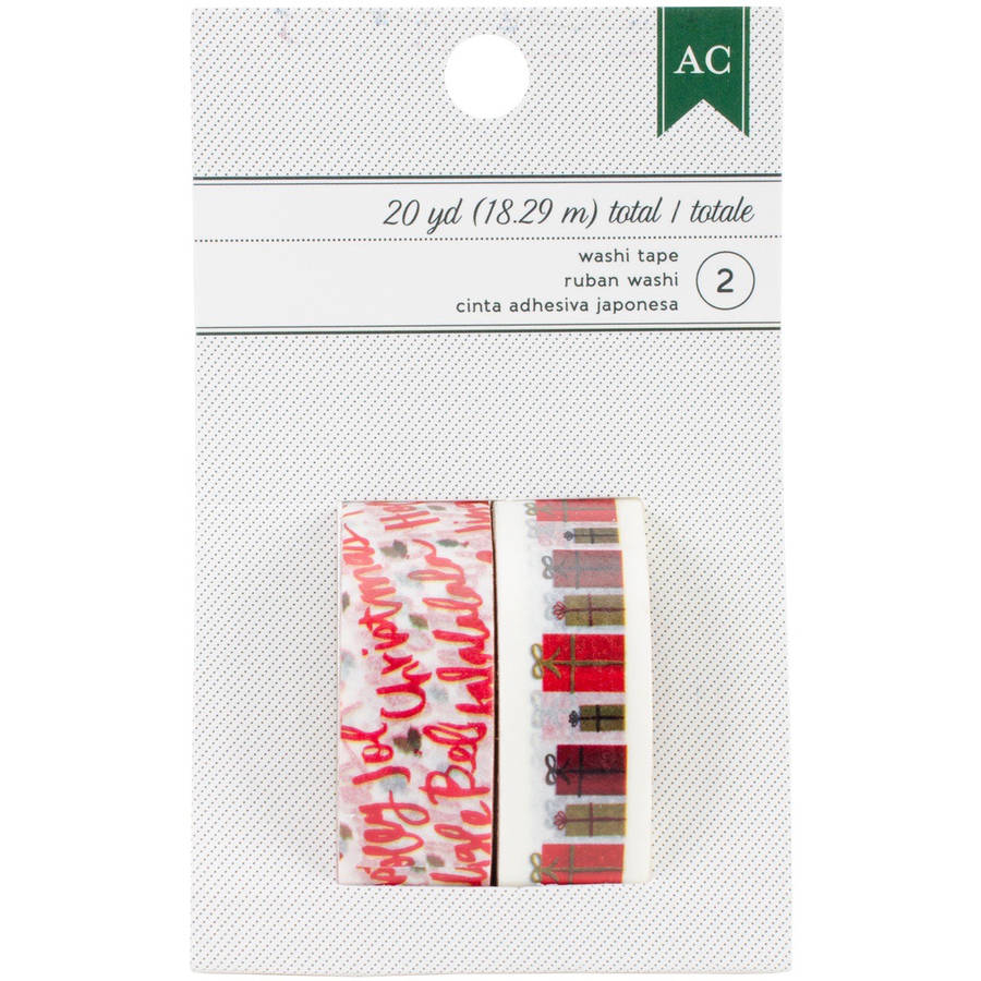 American Crafts Holiday Washi Tape, 10 yd Each, 2pk