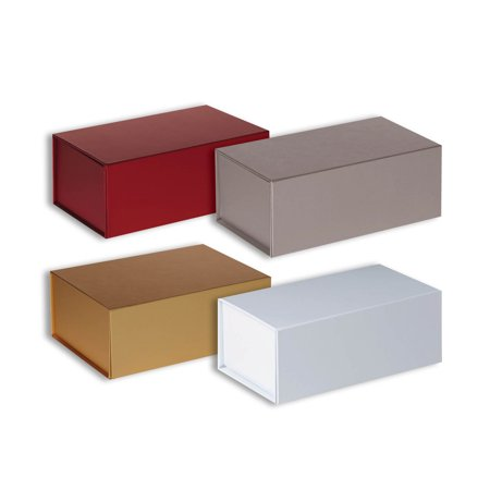 Jillson Roberts Solid Color Small Magnetic Gift Box Assortment 4 Boxes