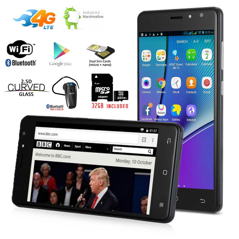 "Indigi® Unlocked 5.0"" IPS QuadCore Android 6.0 2Sim 4G SmartPhone + Bundled items"