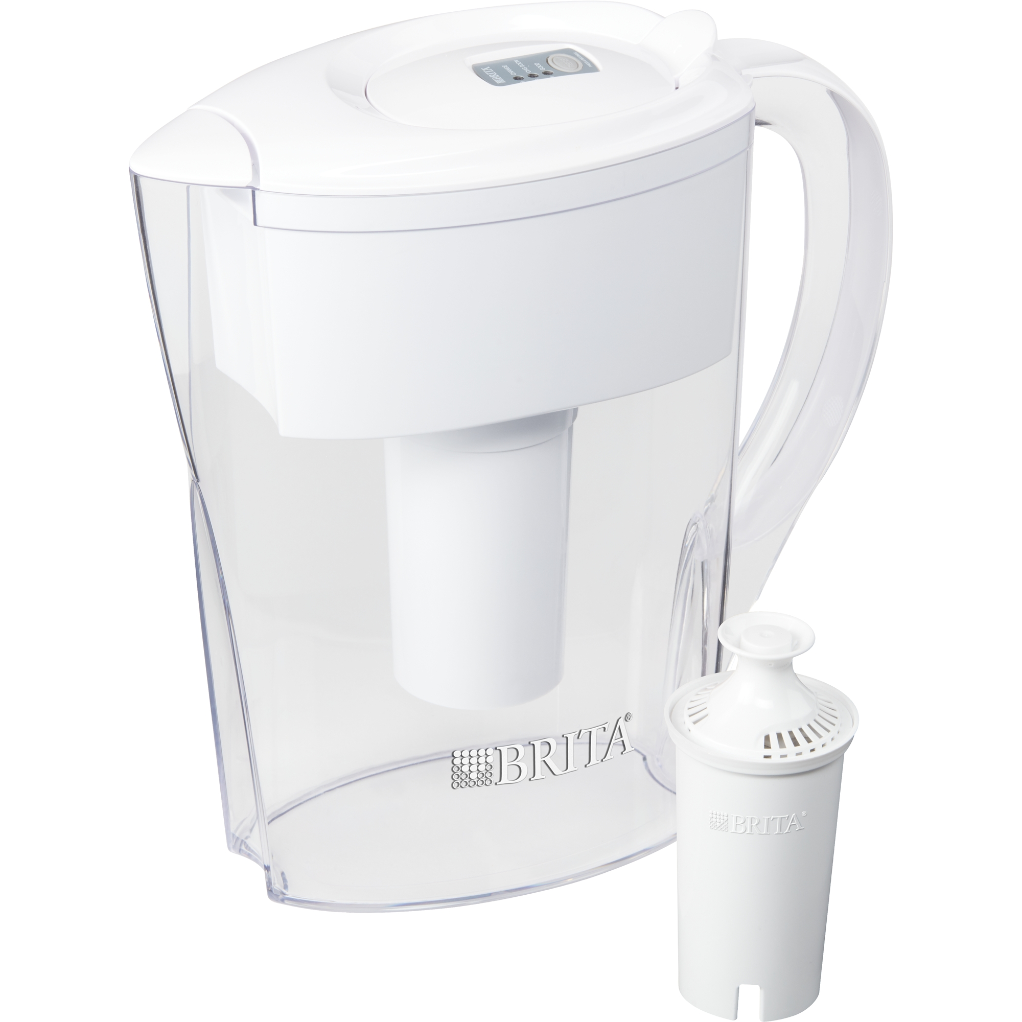Brita Small Space Saver Water Pitcher With Filter Bpa Free White