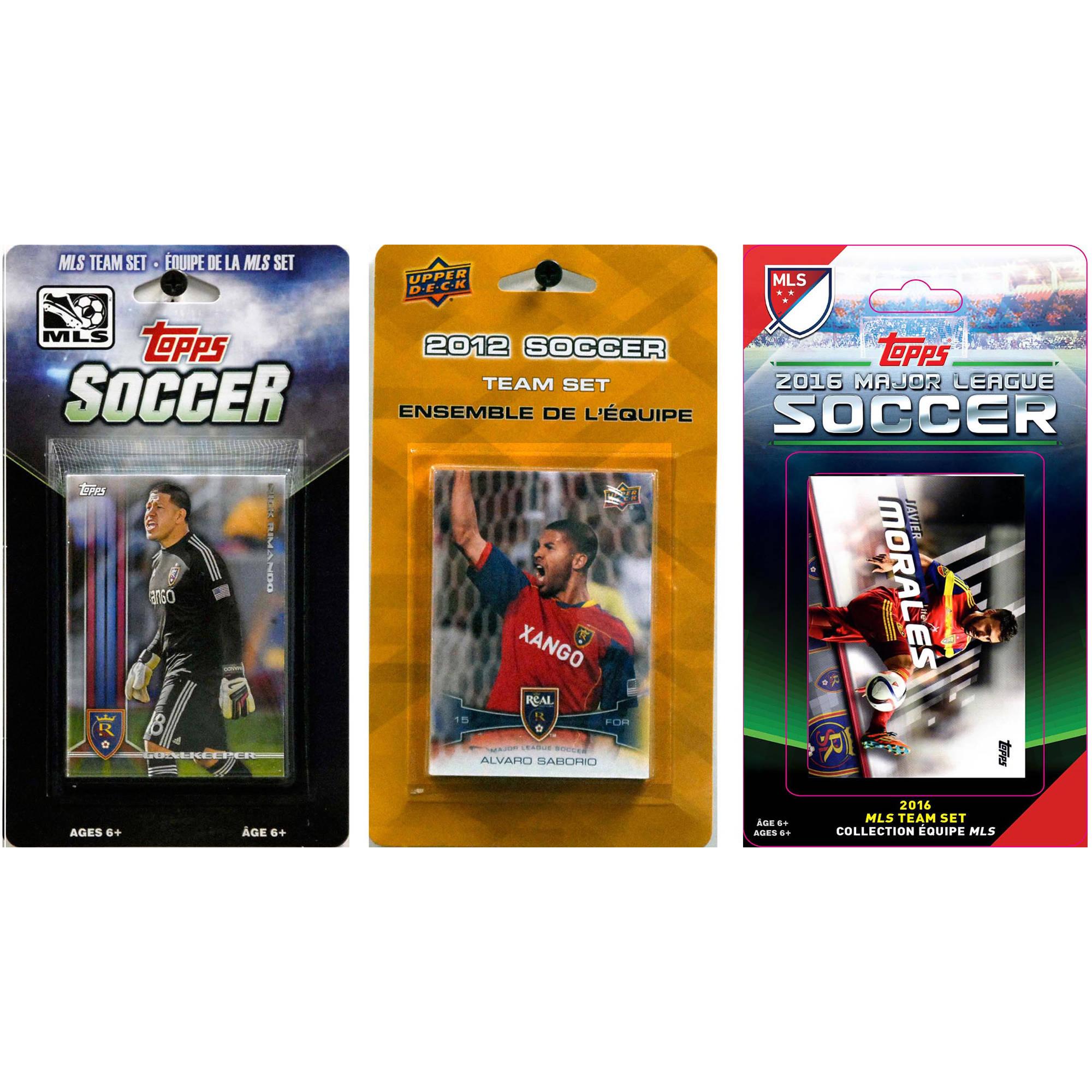 C&I Collectables MLS Real Salt Lake 3 Different Licensed Trading Card Team Sets