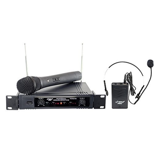 Pyle Pro PDWM2700 2-Channel VHF Wireless Microphone by Pyle