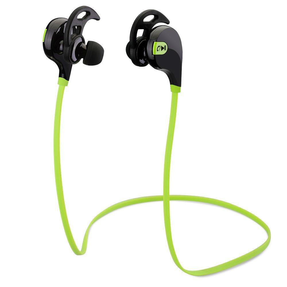 Sport Bluetooth Wireless Stereo Headphone Headset Earphone iPhone 6/5s/5c/5, iPhone 4s/4, Samsung Galaxy S5/S4/S3, LG, PC Laptop, and Other Bluetooth Device (Black and Fluorescent Green)
