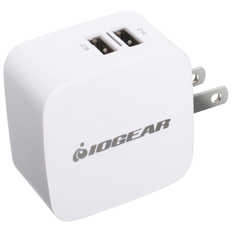 Iogear Gpaw2u4 4.2-amp Gearpower Dual-usb Wall Charger by IOGEAR