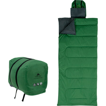 Ozark Trail 50f Opp Blanket Extra Long Sleeping Bag Green Gray