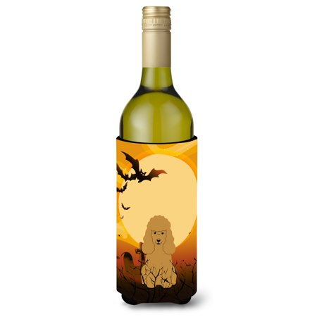 Halloween Poodle Tan Wine Bottle Beverge Insulator Hugger BB4335LITERK - Halloween Potion Bottles Sale