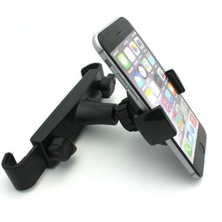 Ipod Black Dock - Premium Car Headrest Mount Phone Holder Rotating Cradle Back Seat Entertainment Dock Black RZW for iPhone 8 X, Ipod Nano 5th Gen 7th Gen Touch 1st Gen 2nd Gen 3rd Gen 4th Gen 5 - Google Pixel 2